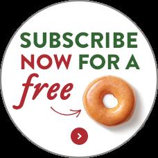 Krispy Kreme Newsletter Sign up